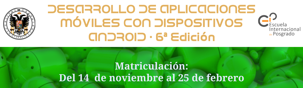 Imagen promocional curso de desarrollo de aplicaciones móviles con dispositivos Android
